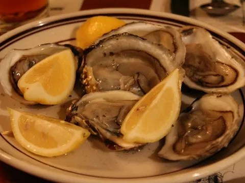 Oysters at Union Oyster House Boston
