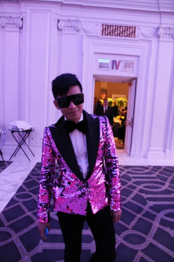 Bryanboy in Dolce & Gabbana fall winter 2011 sequined tuxedo jacket