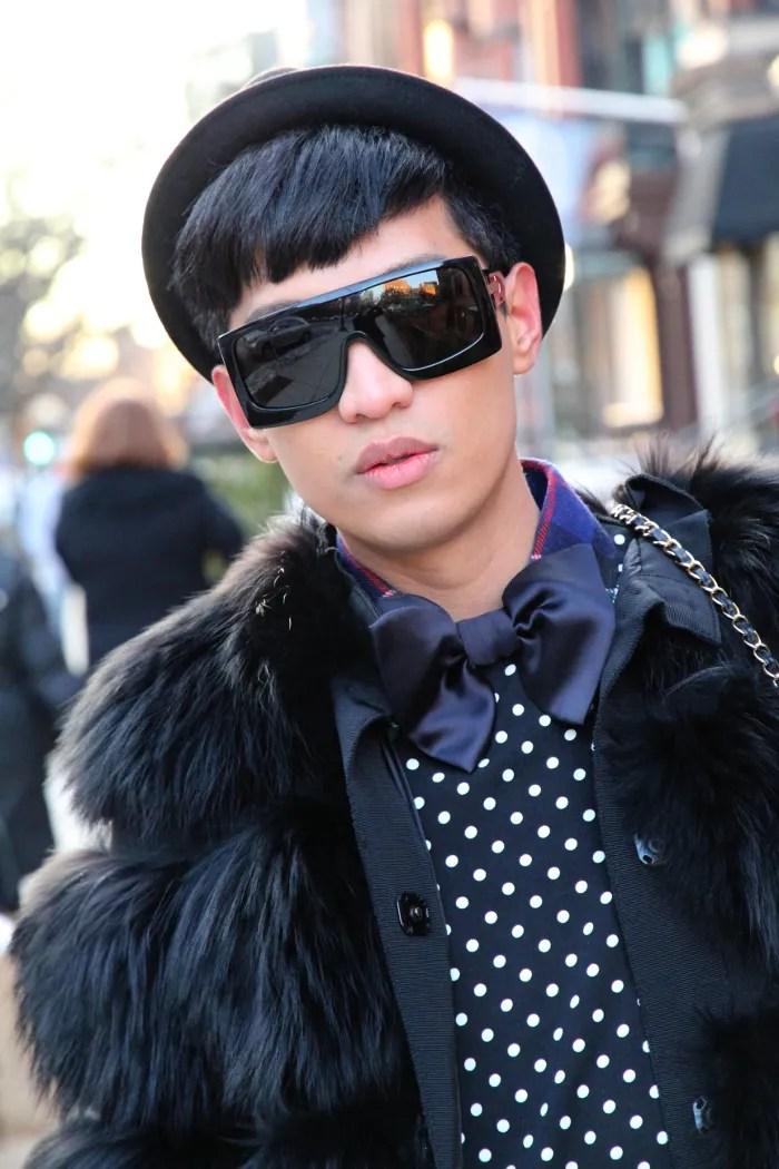 Bryanboy in Dolce & Gabbana fur jacket