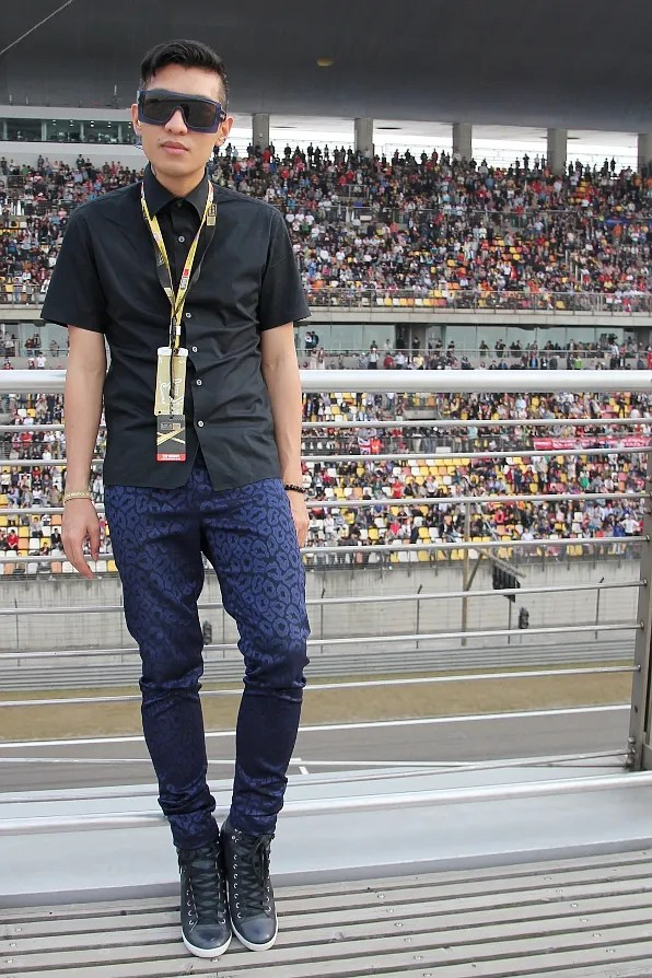 Bryanboy at Formula 1 Paddock Club Rooftop