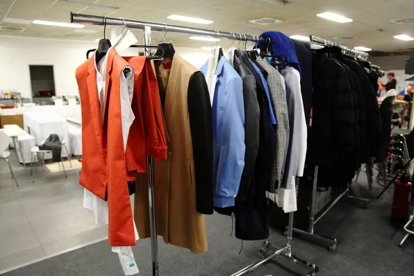 Bryanboy's rack of clothes from HUGO by Hugo Boss