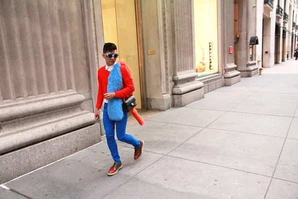 Bryanboy on Madison Ave, New York City