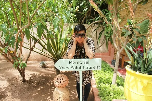 Bryanboy at Yves Saint Laurent Memorial at Majorelle Garden