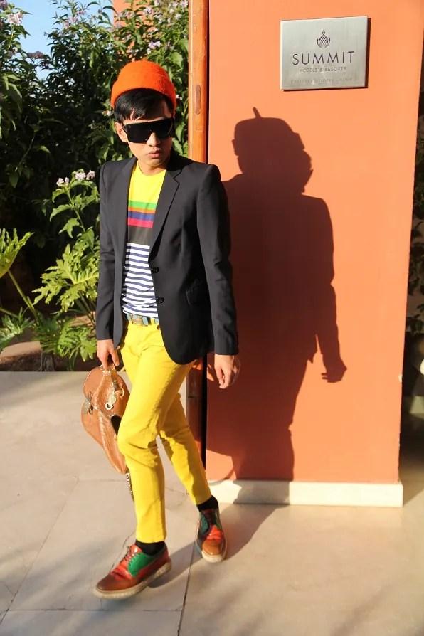 Bryanboy outside Kenzi Menara Palace Hotel, Marrakech