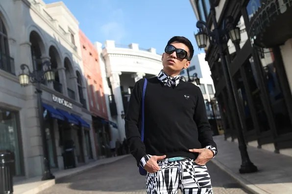 Bryanboy at Rodeo Drive in Los Angeles