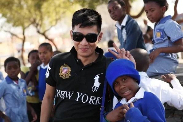 South African school boy