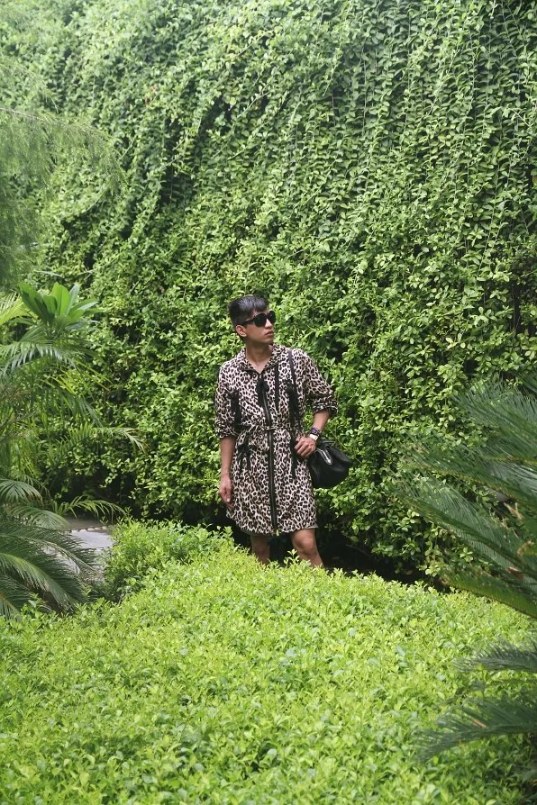 Bryanboy in the gardens of The Manor hotel, New Delhi.