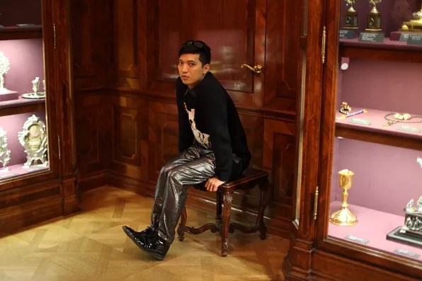 Bryanboy inside Imperial Treasury of Austria