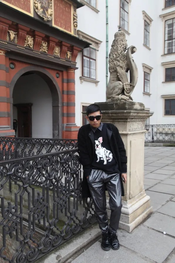Bryanboy outside the Imperial Treasury Schatzkammer in Vienna