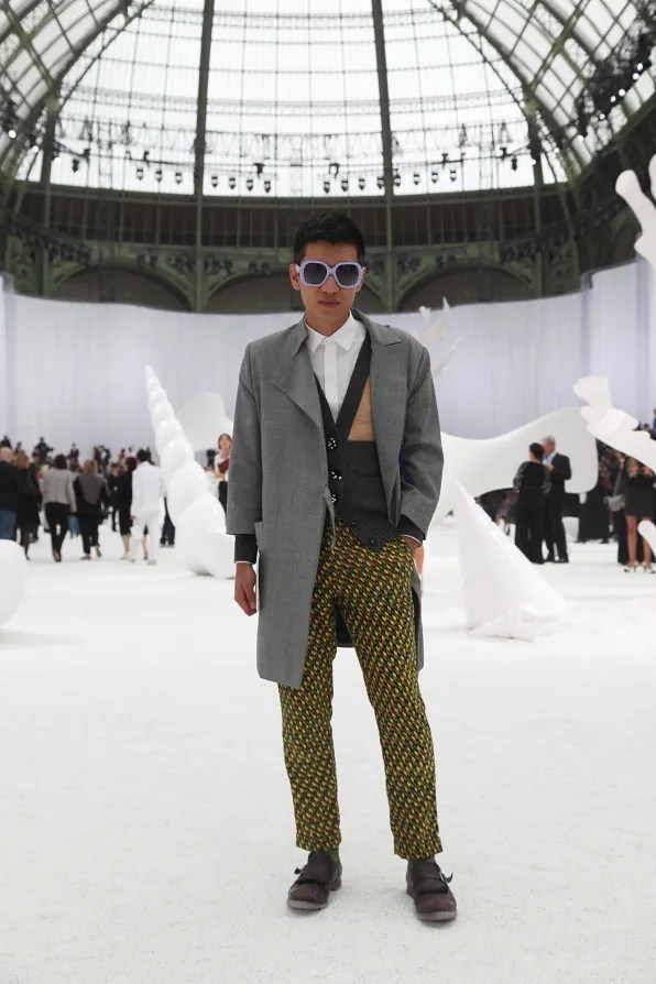 Bryanboy on set at Chanel spring/summer 2012 fashion show in Paris