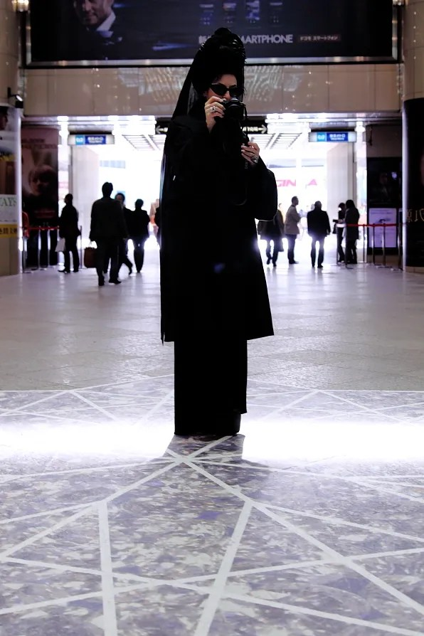 Diane Pernet at Lumine Ginza