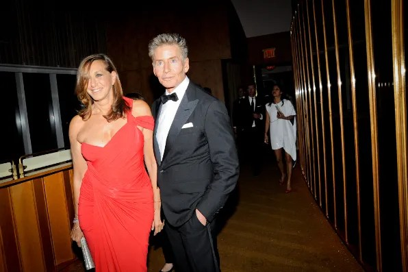 Donna Karan and Calvin Klein at the Top of the Standard Hotel 2011 Met Ball After Party