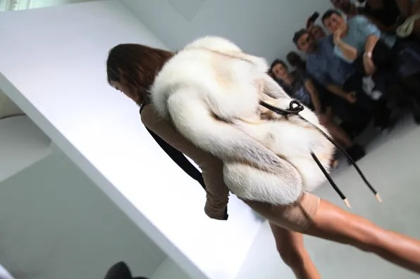 DW Kanye West fox fur backpack