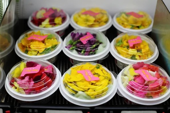 Edible flowers from a Japanese supermarket