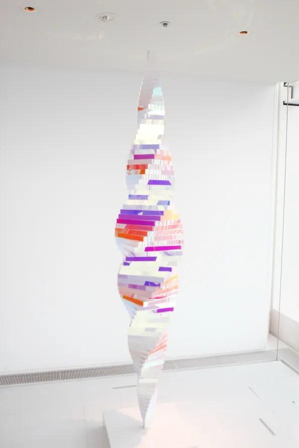 Diffraction Spiral by Alyson Shotz at Espace Louis Vuitton Tokyo