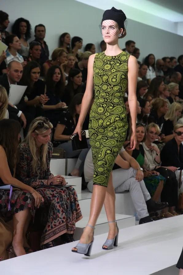 First Look - Jil Sander Spring Summer 2012: Floral dress
