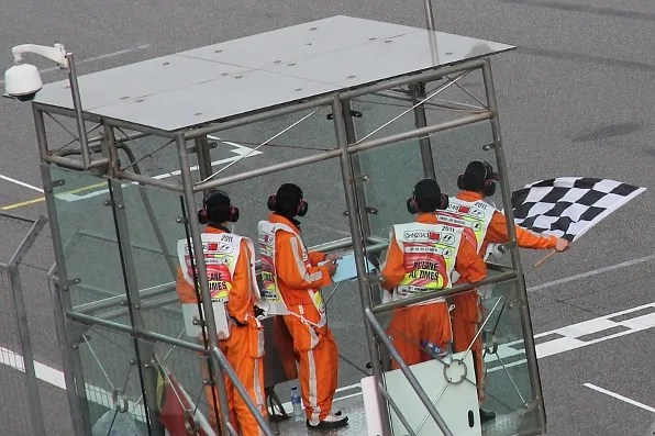 Formula 1 Shanghai Finish Line