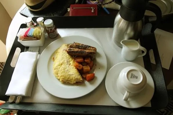 ham and cheese omelette at Soho Grand Hotel, New York