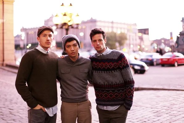 Fabian, Bryanboy and Christian in Stockholm