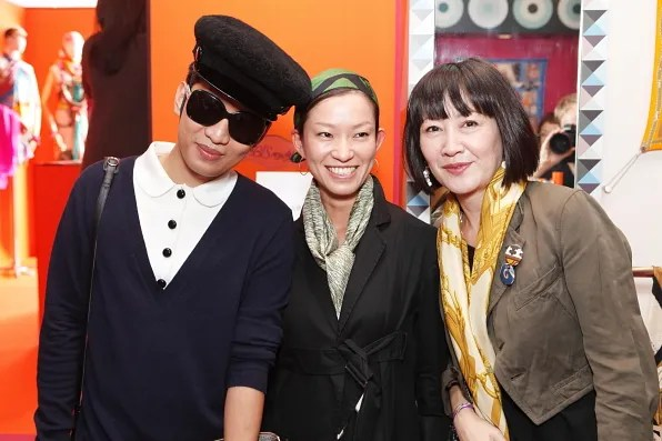 Bryanboy with PR representatives from Hermes