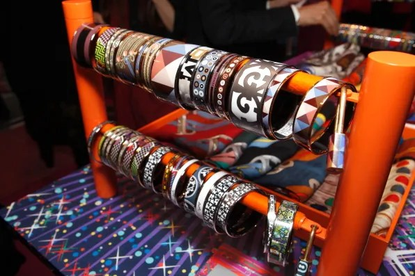 Hermes enamel bangles for sale at Hermes pop-up store