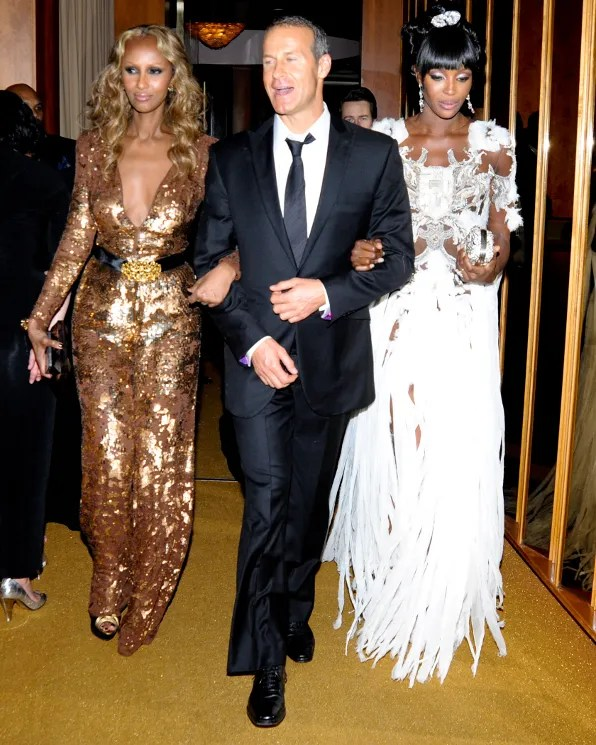 Iman, Naomi Campbell at the Top of the Standard Hotel 2011 Met Ball After Party