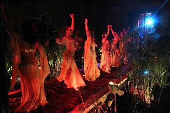 Belly dancers at Jad Mahal restaurant, Marrakesh