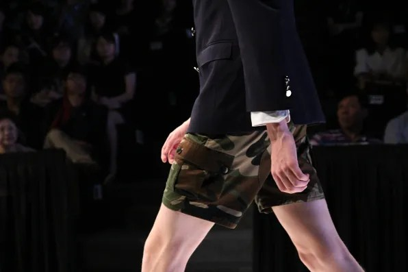 JBB* by Jirawat Bote Benchakarn camouflage shorts