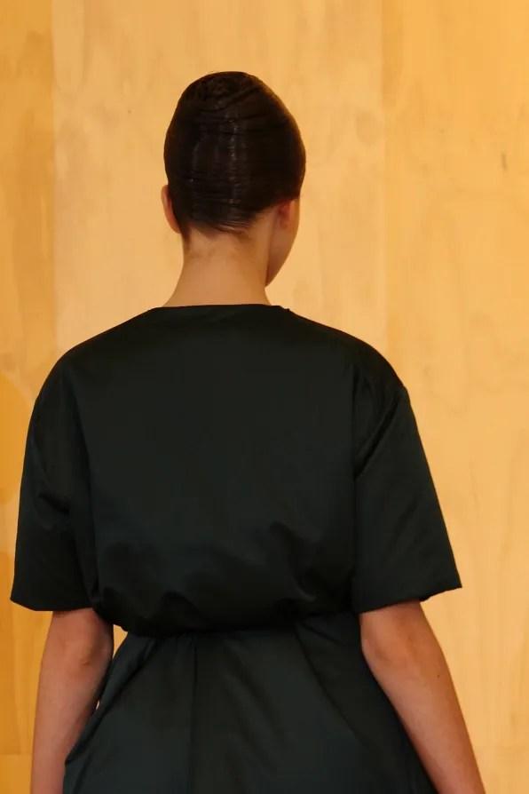 Shiny black Jil Sander Fall Winter 2011 2012 coat dress