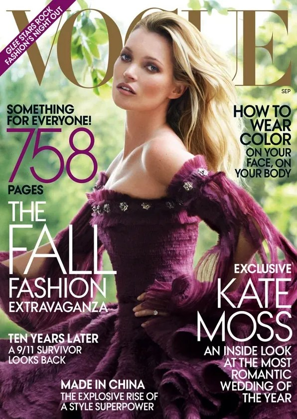 Kate Moss Vogue USA September 2011 issue cover
