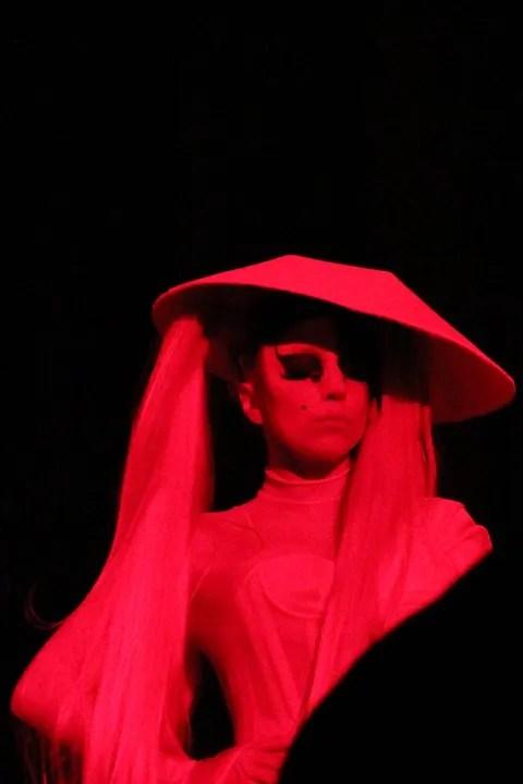 Lady Gaga at Mugler Fall Winter 2011