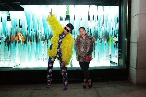 Lady Gaga's Workshop window display at Barney's