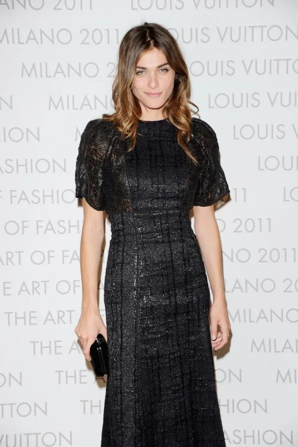 Elisa Sednaoui at Louis Vuitton Art of Fashion exhibit Milan