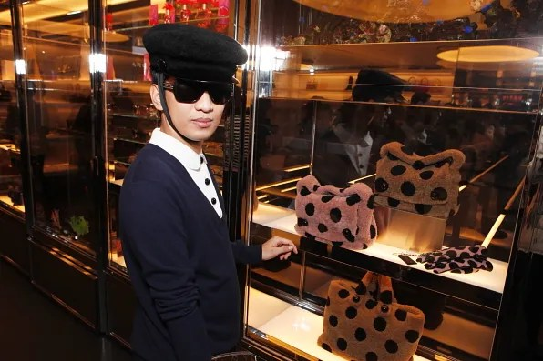 Bryanboy at the Marc Jacobs Aoyama store in Tokyo, Japan