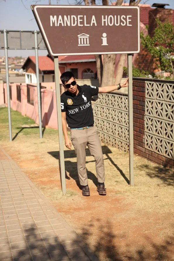 Bryanboy at Nelson Mandela's House in Soweto, South Africa