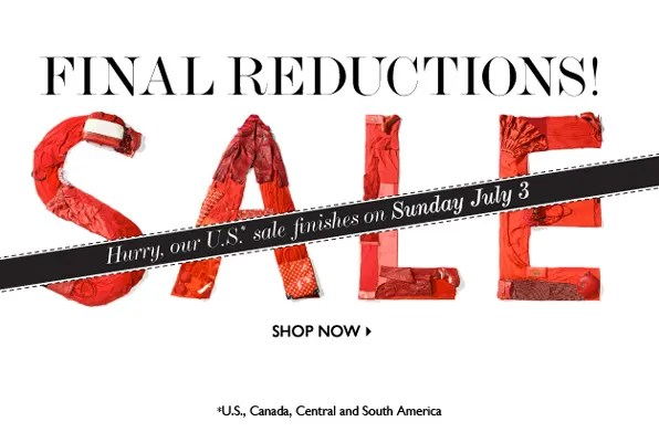 Net-a-Porter Final Reductions Spring Summer 2011 Sale