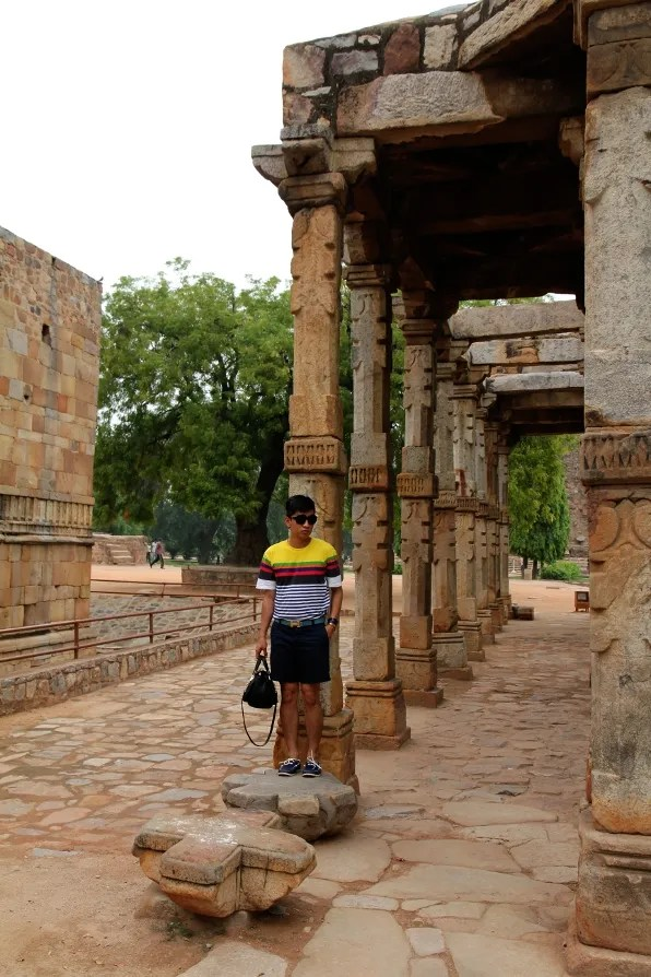 Bryanboy at Qutub Minar
