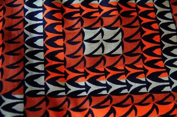 picture of orange vintage scarf