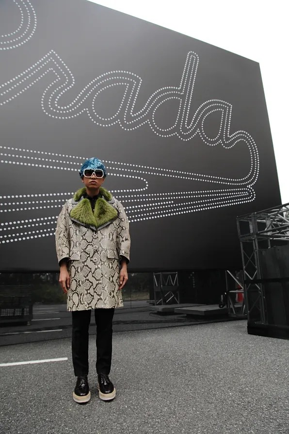 Bryanboy outside the Prada spring/summer 2012 fashion show venue in Tokyo