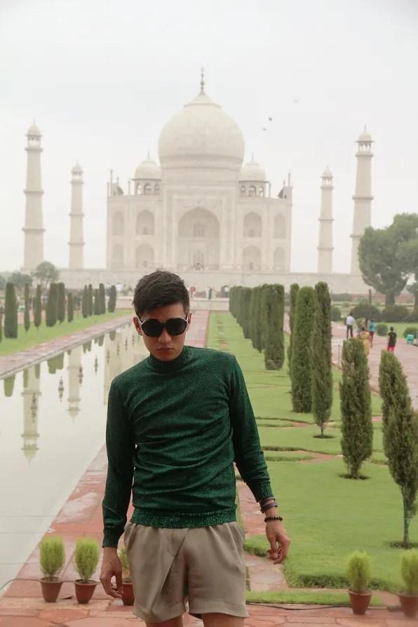 Bryanboy outside Taj Mahal, Agra India