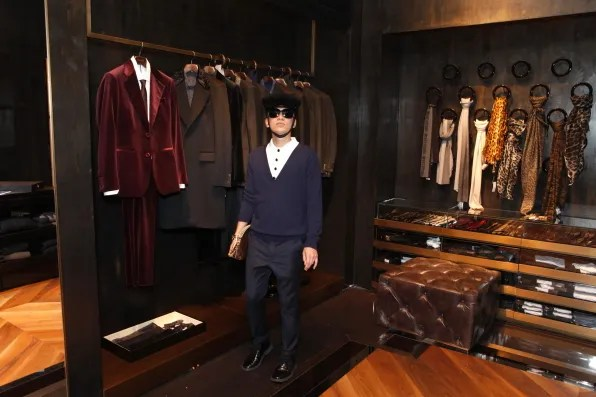 Roberto Cavalli menswear section of the Tokyo boutique