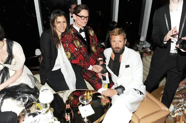 Sally Singer, Hamish Bowles and Stefano Pilati at the Top of the Standard Hotel 2011 Met Ball After Party