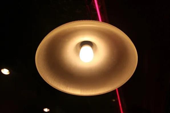 Lamp inside Starlite Diner
