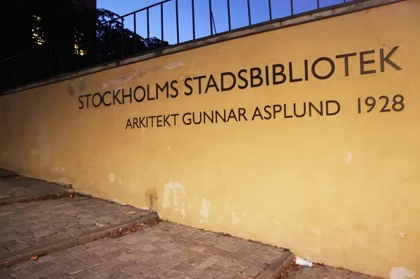 Stockholms Stadsbibliotek by Architect Gunnar Asplund 1928