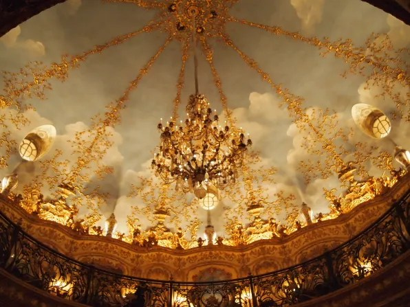 Painted ceilings of Tvrandot Moscow