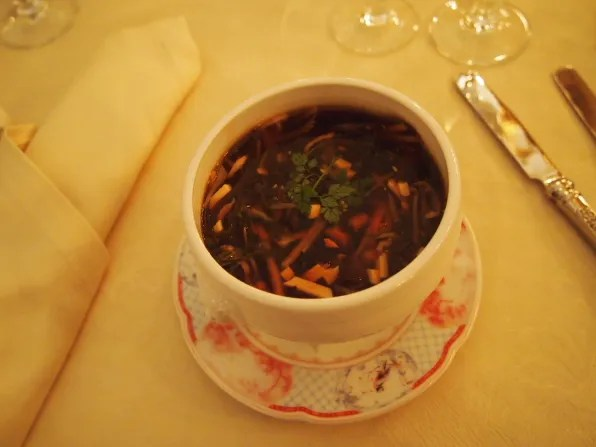 Hot and Sour soup, Turandot restaurant, Moscow