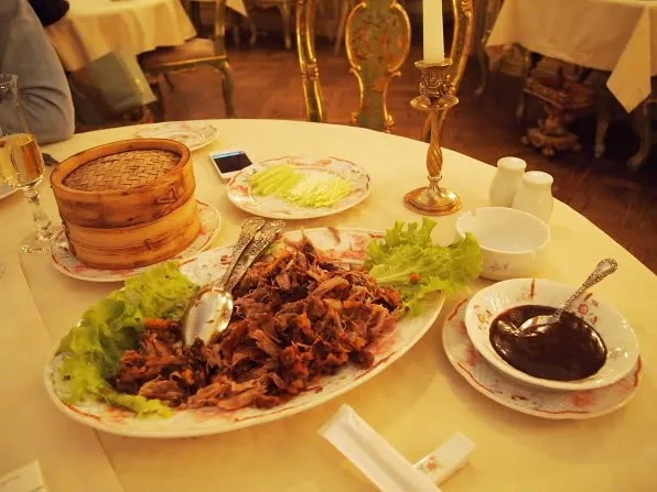 A plate of cripsy roasted duck