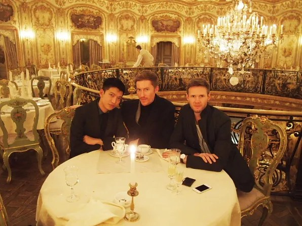 Bryanboy, Patrick and Keith at Turandot Palace, Moscow
