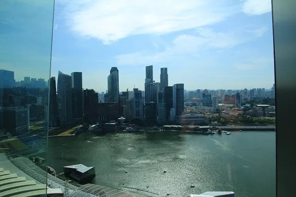 View from the 47th floor of Marina Bay Sands Hotel