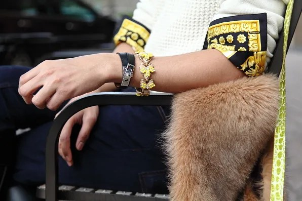 Bracelets from Hermes and J Crew